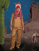 7505 Dreamgirl Costume, Chief Big Wood Faux suede vest style shirt wi