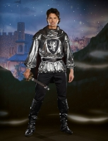 7522 Dreamgirl Costume, Sir Bangalot Metallic knit long sleeve shirt