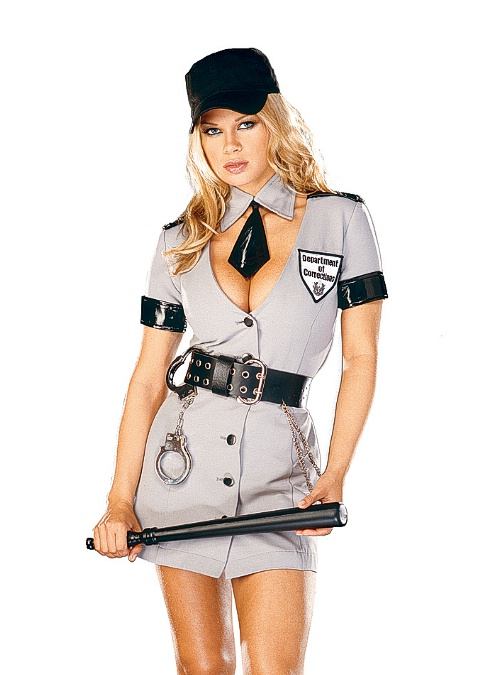 3759 Dreamgirl Costume, Corrections Officer