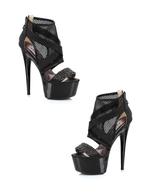 609-Shawna Ellie Shoes 6 Inch Pointed Stiletto High Heels Sandal