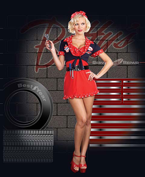 Army pin up girl outfit