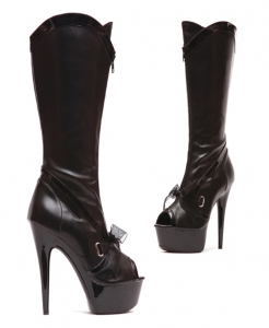 609-Naima Ellie Boots, 6 Inch Pointed Stiletto High Heels Open Toe Pl