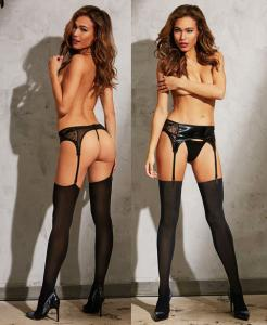 0277 Dreamgirl, seamless thigh high stocking