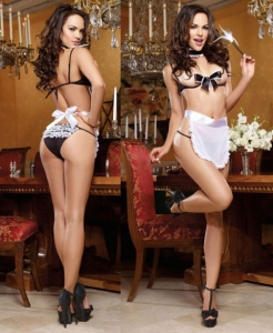 9323 Dreamgirl Underwire open cup bra with large bow detail back ties