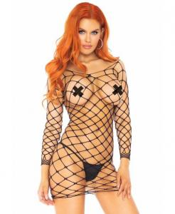 86157 Leg Avenue Crochet net dress