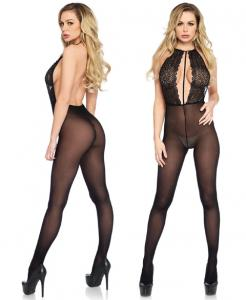 89207 Leg Avenue Backless lace bodystocking