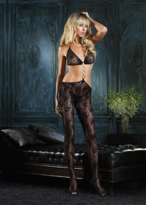 89042 Leg Avenue Body stocking,  Boudoir Lace bodystocking with b