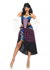 83941 Leg Avenue Costumes, Tarot Card Gypsy, includes coin trimmed ha