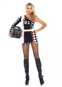 83944 Leg Avenue Costumes, First Place Racer, includes asymmetrical c