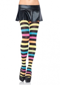 7286 Leg Avenue, Neon rainbow acrylic tights.