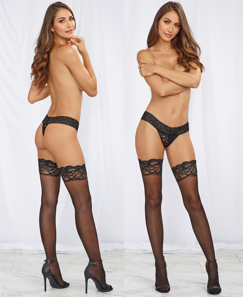 0005 Dreamgirl Sheer thigh high stay up