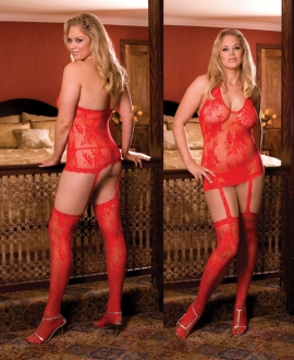 0074X Dreamgirl, lace garter dress lingerie