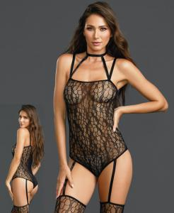 0311 Dreamgirl fishnet teddy bodystocking