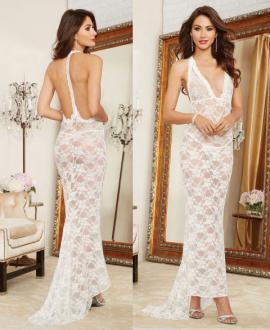 10131 Dreamgirl, lace gown lingerie