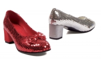 203-Judy Ellie Shoes, 2 Inch heel Sequined Women  shoes.