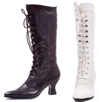 253-Rebecca Ellie Shoes, 2.5 inch heels zipper  Knee High Boots