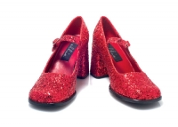 300-Eden-G Ellie Shoes, 3 inch heel mary jane glitter shoes