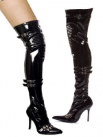 408-Nadia Ellie Shoes, 4 Inch high heels Knee Pad Thigh High  Boo