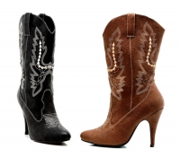 418-Cowgirl Ellie Shoes, 4 inch high heels Fetish  Ankle Boots
