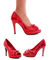 420-Dorothy Ellie Shoes, 4 Inch high heels Pumps Sequins with Patent