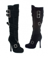 420-Vixen Ellie Shoes, 4 Inch Heels Covered Platform Knee High Boot