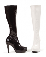 421-Groove Ellie Shoes, 4 Inch Heels Inner Zipper Knee High Boot