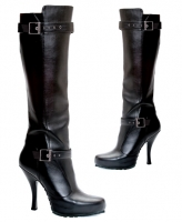 423-Anarchy Ellie Boots, 4.5 Inch High Heels Pump Concealed Platforms