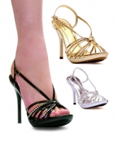 431-Knot Ellie Shoes, 4 Inch high heels Pumps Rhinestone  Sandals