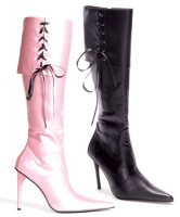 435-Penn Ellie Boots, 4 inch heels with ribbons and zipper  Knee