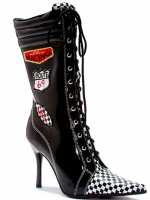 457-Racer Ellie Shoes, 4.5 inch high heels Fetish,  Ankle Boots