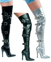 511-Buckleup Ellie Shoes, 5 Inch high heels Thigh High  Boots