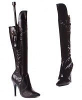 511-Sadie Ellie Boots, 5 inch high heels with Whip Knee High