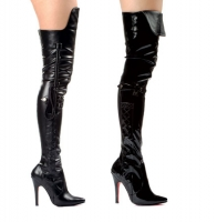 511-Simone Ellie Shoes, 5 Inch high heels Thigh High  Boots With
