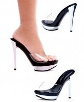 515-Vanity Ellie Shoes, 5 Inch Silver Chrome High Heels Pumps Peep To