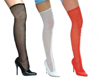 516-Garter Ellie Shoes, 5 Inch high heels Fishnet Thigh High  Boo