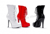 Exotic 5 Inch Spike Heel Platform Ankle  Boots