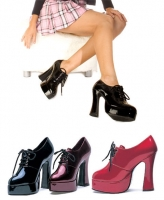 557-Amber Ellie Shoes, 5.5 inch Chunky high heels