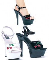 601-Cherry Ellie Shoes, 6 inch stiletto high heels