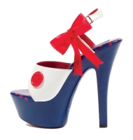 601-Raggedy Ellie Shoes, 6 inch stiletto high heels With 2 inch Platf