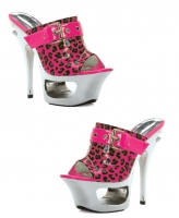 604-Cidney Ellie Shoes, 6 Inch Chrome Stiletto High Heels Neon Shoes