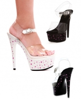 608-Starbright Ellie Shoes,6 Inch high heels stiletto tattoo print st