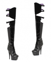 609-Felicia Ellie Shoes, 6 Inch Stiletto High Heels Thigh High Boots