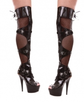609-Tasha Ellie Shoes, 6 Inch Pointed Stiletto Heels Thigh High Boot