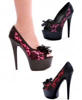Valentina Ellie Shoes, 6 Inch Pointed Stiletto High Heels Peep Toe
