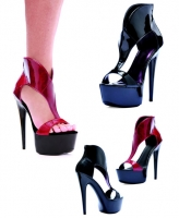 609-Wonder Ellie Shoes, 6 Inch Pointed Stiletto High Heels Open Toe