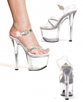 711-Jewel Ellie Shoes, 7 inch pointed Stiletto heels Ankle Strap Clea