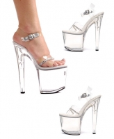 821-Jewel Ellie Shoes, 8 inch Pointed Stiletto high heels