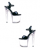 821-Juliet-C Ellie Shoes 8 inch Pointed Stiletto Heels Clear Sandal