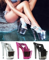 821-Sandra Ellie Shoes, 8 Inch Stiletto High Heels  Sandal