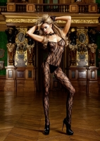440 Baci Lingerie,  flower lace bodystocking.
